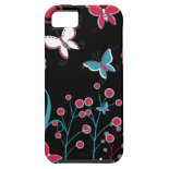 Pretty Girly Butterflies Flowers Pink Blue Pastel iPhone 5 Cover