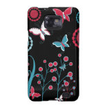 Pretty Girly Butterflies Flowers Pink Blue Pastel Samsung Galaxy SII Covers