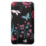 Pretty Girly Butterflies Flowers Pink Blue Pastel HTC Vivid Case