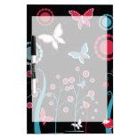 Pretty Girly Butterflies Flowers Pink Blue Pastel Dry-Erase Whiteboard