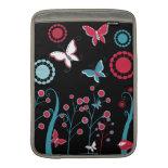 Pretty Girly Butterflies Flowers Pink Blue Pastel MacBook Air Sleeve