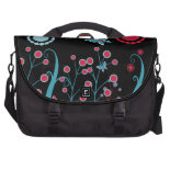 Pretty Girly Butterflies Flowers Pink Blue Pastel Bag For Laptop