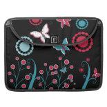 Pretty Girly Butterflies Flowers Pink Blue Pastel MacBook Pro Sleeve