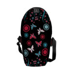 Pretty Girly Butterflies Flowers Pink Blue Pastel Courier Bags
