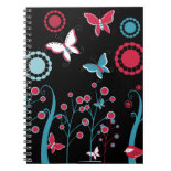 Pretty Girly Butterflies Flowers Pink Blue Pastel Note Books