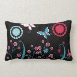 Pretty Girly Butterflies Flowers Pink Blue Pastel Pillows