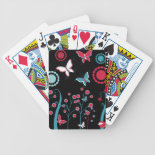 Pretty Girly Butterflies Flowers Pink Blue Pastel Bicycle Card Deck
