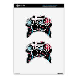 Pretty Girly Butterflies Flowers Pink Blue Pastel Xbox 360 Controller Decal