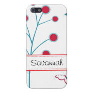 Pretty Girly Butterflies Flowers Pink Blue White iPhone 5 Covers