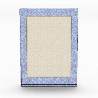 Pretty, Girly, Floral Pattern - Light Blue, Purple Acrylic Award