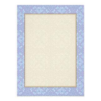 Pretty, Girly, Floral Pattern - Light Blue, Purple Card