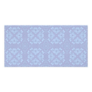 Pretty, Girly, Floral Pattern - Light Blue, Purple Card
