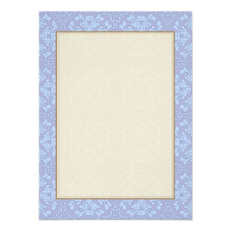 Pretty, Girly, Floral Pattern - Light Blue, Purple 5.5x7.5 Paper Invitation Card