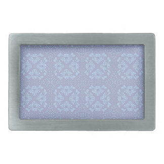 Pretty, Girly, Floral Pattern - Light Blue, Purple Rectangular Belt Buckle