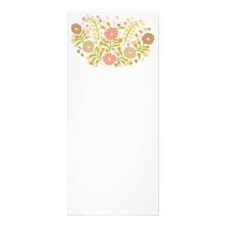 Pretty Girly Flowers In Multicolors Rack Card