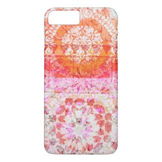 Pretty Girly Kaleidoscope Tile Lace Orange Pink iPhone 8 Plus/7 Plus Case