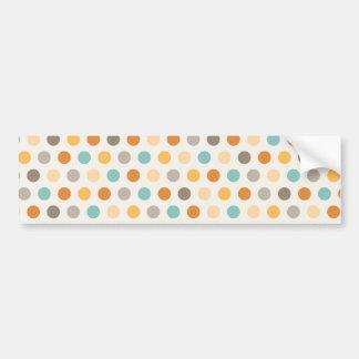 Pretty Girly Multi Color Polka Dots Orange Blue Bumper Sticker