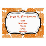 Pretty Girly Orange Flower Blossoms Floral Print Business Cards