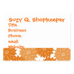 Pretty Girly Orange Flower Blossoms Floral Print Business Card