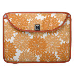 Pretty Girly Orange Flower Blossoms Floral Print MacBook Pro Sleeves