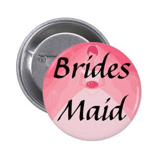 Pretty Girly Pink Simple Bridesmaid Pins
