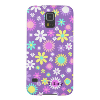 Pretty Girly Purple With Flowers Custom Case For Galaxy S5