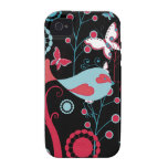 Pretty Girly Spring Birds Butterfly Flowers Vines Vibe iPhone 4 Cover