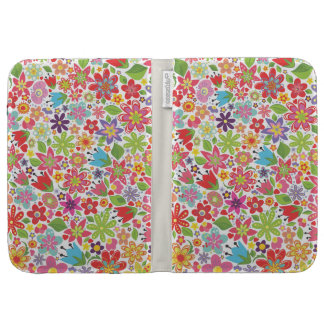 Pretty Girly Spring Flowers Kindle Caseable Case Kindle 3 Case