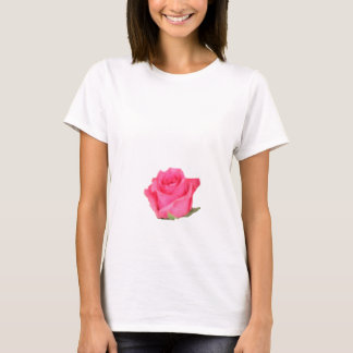 pretty girly t shirt with a pink rose