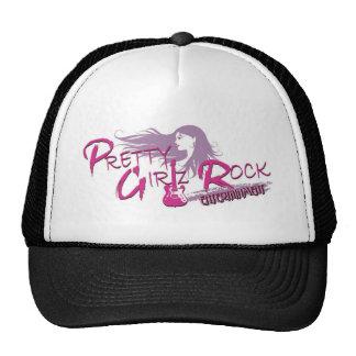 pretty girlz rock ent face small LOGO VECTOR OUTLI Mesh Hats