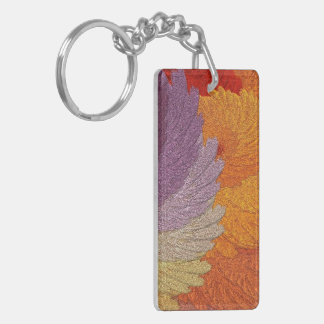 Pretty Glimmering Leaves Keychain