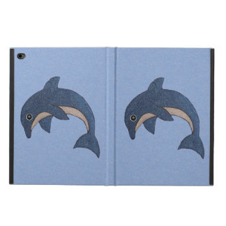 Pretty Glitter Sparkling Dark Blue Jumping Dolphin Powis iPad Air 2 Case