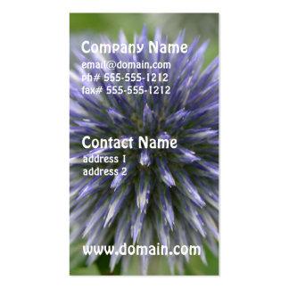 Pretty Globe Thistle Business Card
