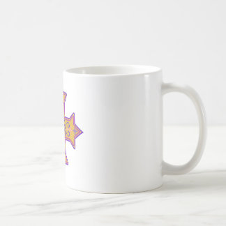 Pretty Gold and Pink Coptic Cross Coffee Mug