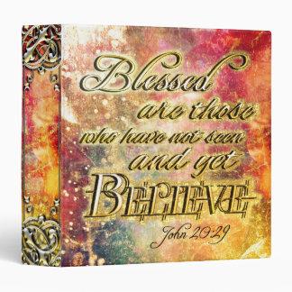 Pretty Gold Blessed Spiritual Scripture Binder