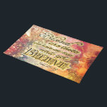 "Pretty Gold Blessed Spiritual Scripture Christian Cloth Placemat<br><div class=""desc"">.</div>"