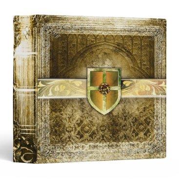 Noveltiez Pretty Gold Fantasy Ancient Tome Binder