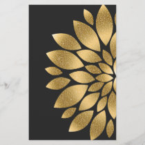 Pretty gold faux glitter abstract flower