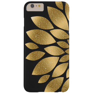 Pretty gold faux glitter abstract flower barely there iPhone 6 plus case