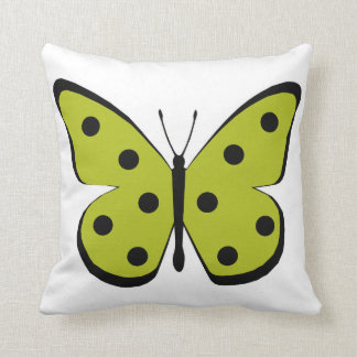 Pretty Gold Monarch Butterfly Throw Pillow