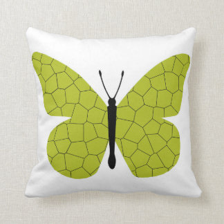 Pretty Gold Monarch Butterfly Throw Pillows