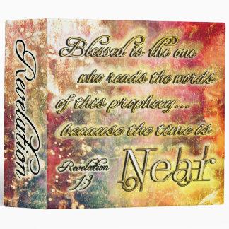 Pretty Golden Spiritual Revelation Scripture 3 Ring Binder