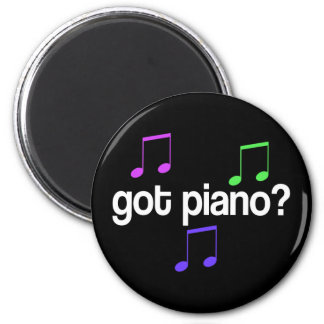 Pretty Got Piano Musical Gift 2 Inch Round Magnet
