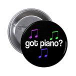 Pretty Got Piano Musical Gift Pinback Buttons