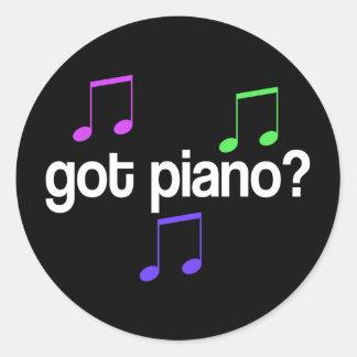 Pretty Got Piano Musical Gift Sticker