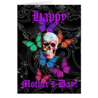 Pretty  gothic skull mothers day card