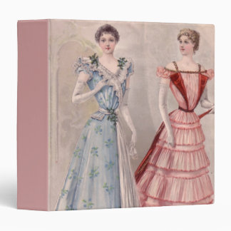 Pretty Gowns Tiny Waists 3 Ring Binder