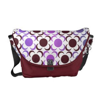 Pretty gradient colors floral mosaic courier bags
