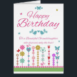 """Pretty Granddaughter Birthday Card With Butterfly<br><div class=""""desc"""">A simplistic to the point pretty birthday greeting card with delicate elements and nice verse for your loved one</div>"""