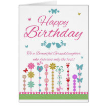 Pretty Granddaughter Birthday Card With Butterfly
